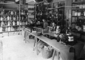 Foto interieur van de fabriek (1901)
